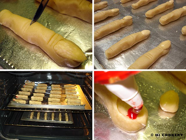 Freaky Finger Cookies