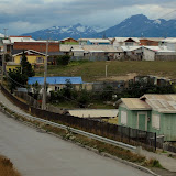 Puerto Natales with the mountains behind