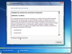 4 - Terminos de licencia Instalacion windows vista