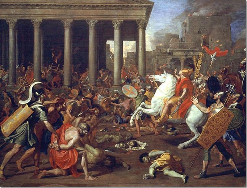 POUSSIN LA DESTRUCCION DEL TEMPLO DE  1637