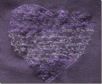 T-shirt lila Detail