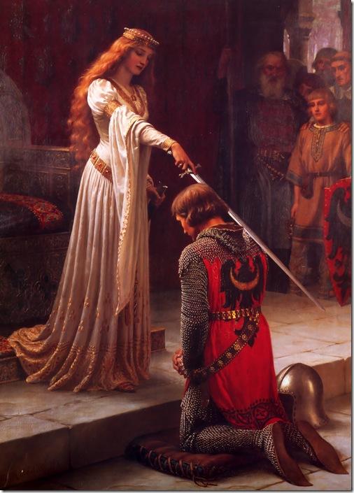 edmund blair leighton - pasowanie na rycerza