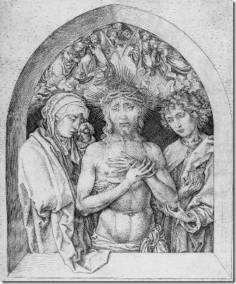 schongauer - mąż boleści 1470-75 albertina