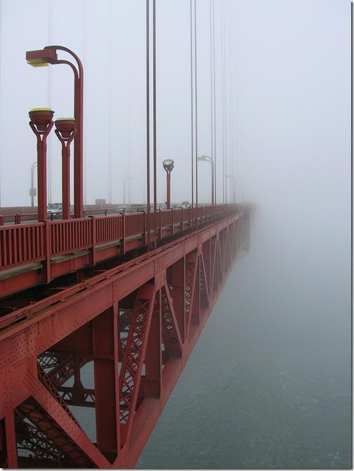 Golden Gate w porannej mgle