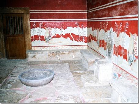 knossos - sala tronowa