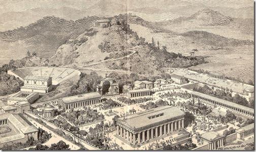 kompleks świątynny w olimpii