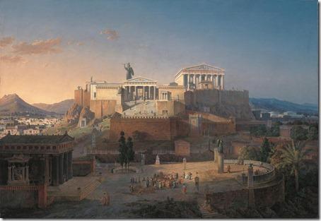 leo von klenze - rekonstrukcja akropolu 1846