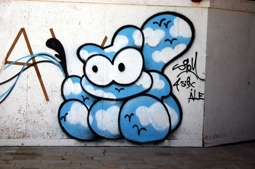 graffiti przy riva degli schiavoni