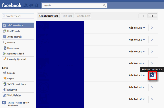 how to remove or delete a friend on facebook