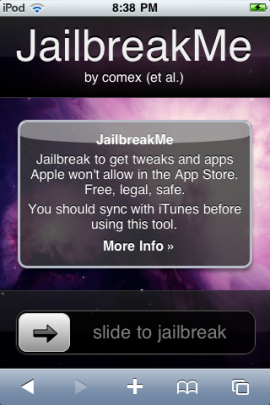 jailbreak ipod touch