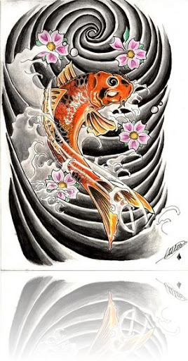 koi carp tattoo. koi carp tattoo