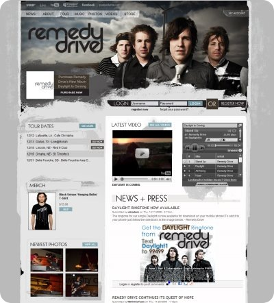 Remedy Drive web layout