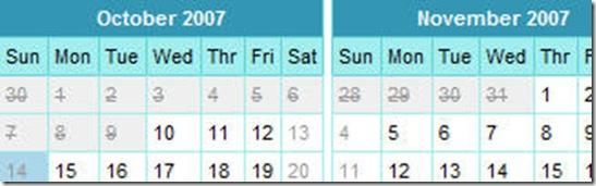 Customizable calendar component