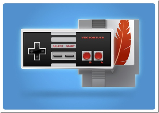 Vintage Nintendo-style Controller and Cartridge