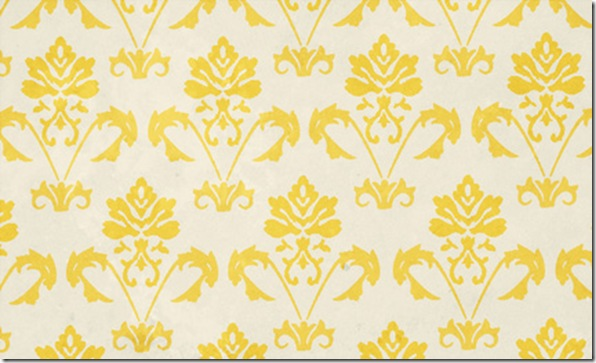 Orange Gold Damask