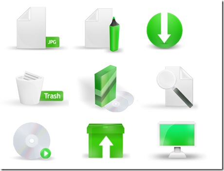 Green Icon Set