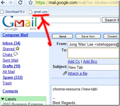 Gmail This! bookmarklet