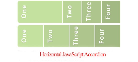 Horizontal-JavaScript-Accor