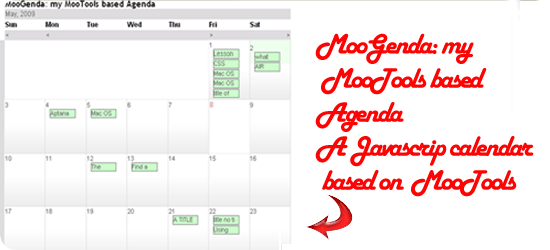 javascript calendar based on MooTools