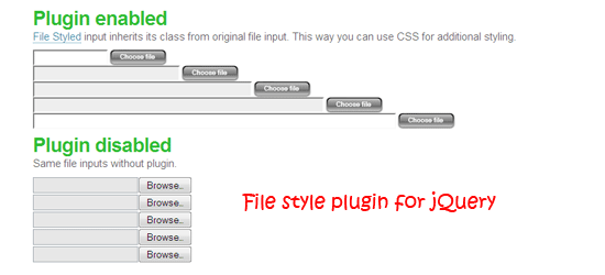 File style plugin for jQuery