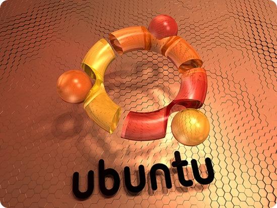3D ubuntu logo