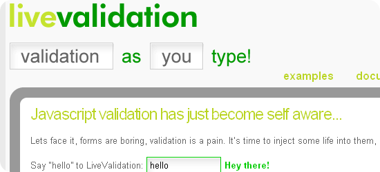 Live-Validation