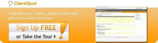 ClientSpot Time tracking Application