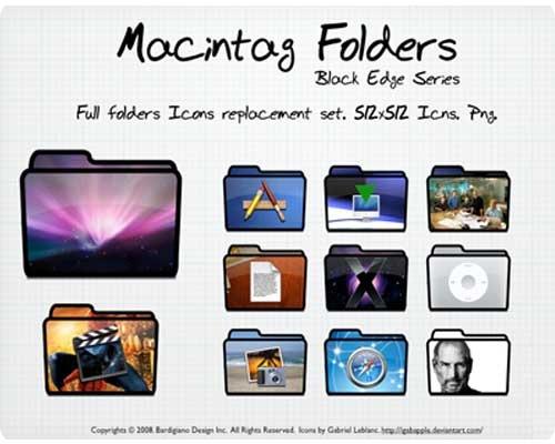 Macintag Folders. Black Edge by igabapple