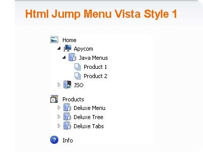 Html Jump Menu Vista Style 1
