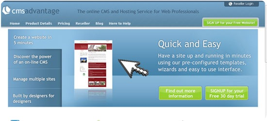 cmsadvantage - A premier CMS Service for graphic and web designers