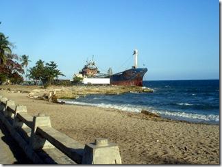Navio em San Pedro de Marcoris