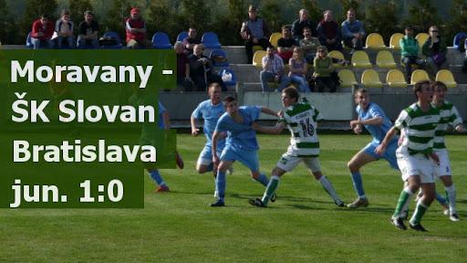Moravany - ŠK Slovan Bratislava jun. 1:0