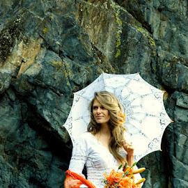 Monkey Bay by Jasmin Loomis - Wedding Bride ( orange, colorful, white )
