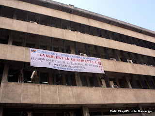 – Une vue du siège de la Ceni à Kinshasa, ce 28/03/2011. Radio Okapi/Ph. John Bompengo