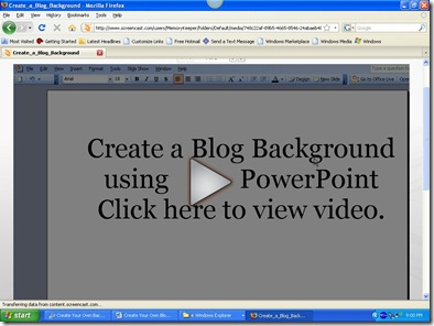 Create A Blog Background using PowerPoint