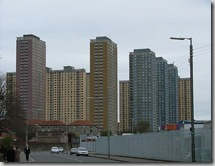 Red Road flats in Glasgow