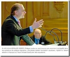 Philippe Leuba clandestins débat