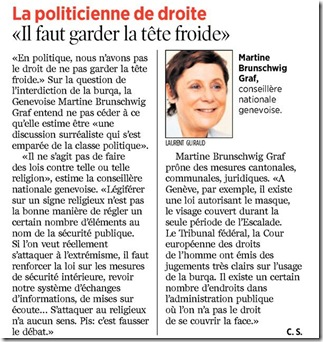 burqa opinion martine brunschwig-graf
