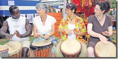 Pour de nombreux étrangers, la Fête des couleurs de la région d'Aigle constitue un pas important sur la voie d'une intégration en douceur. Aigle, le 6 juillet 2008. Photo Christian Gauthey