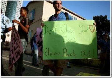 manifestation israel réfugiés