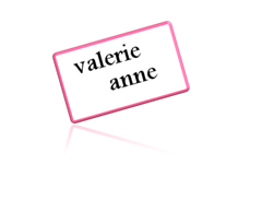 valerie anne - black&pink sign - signature