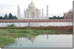 India 2010 - Agra , Taj Mahal , desde el rio , 17 de septiembre   06