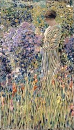 Lady in Garden