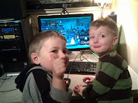 Now that the computer is set up, the boys are happier :-)