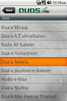 Screenshot of Duas by Duas.Org