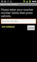 Screenshot of SysLynx App Vouchers