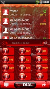 GOContacts theme Red Valentine - screenshot