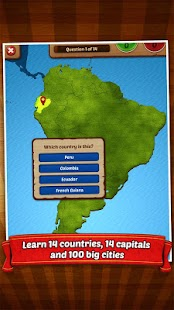GeoFlight South America - screenshot