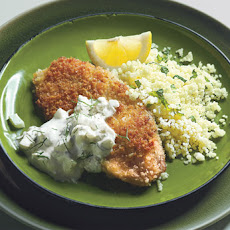 Crispy Tilapia Fillets with Fennel-Mint Tzatziki