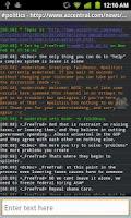 Screenshot of fIRC chat